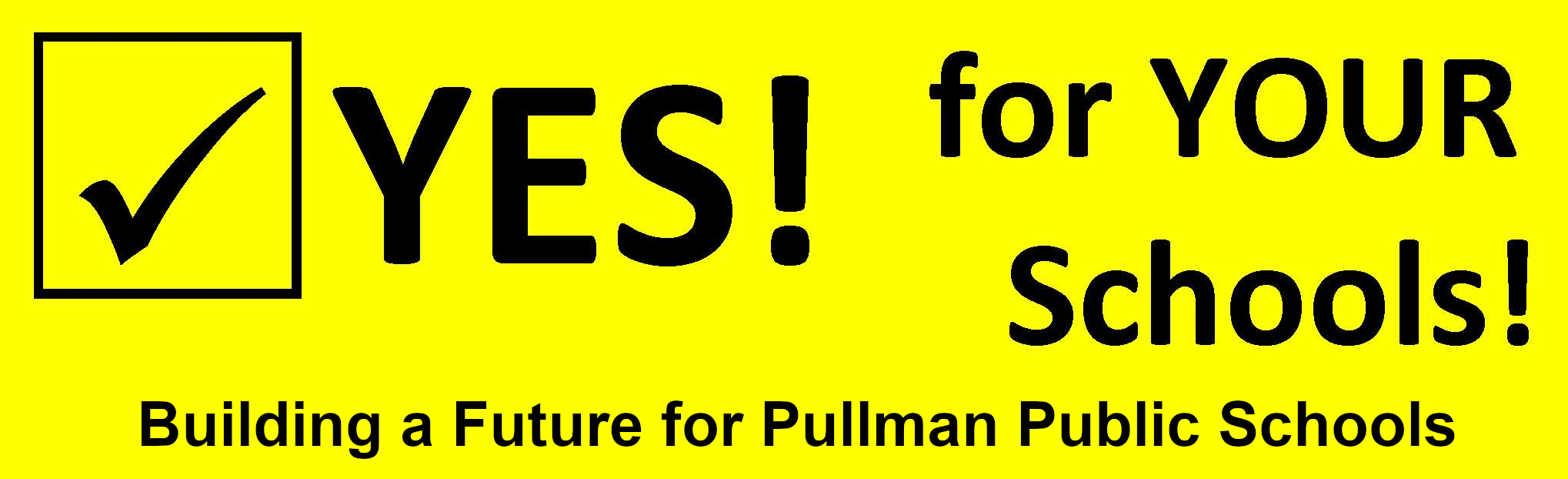 Yes for Pullman Public Schools Logo